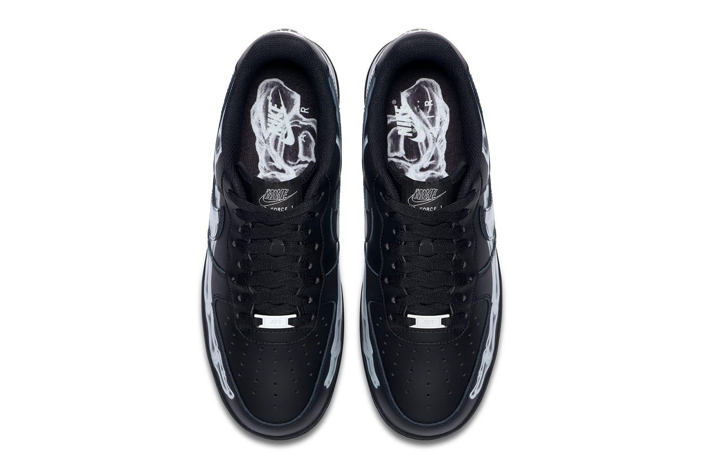 Nike, Nike drops Air Force 1 'Black Skeleton' for Halloween