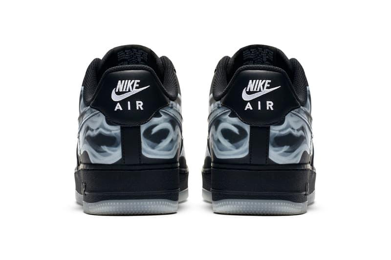 Nike Air Force 1 '07 Black Skeleton Halloween Info Release 2019