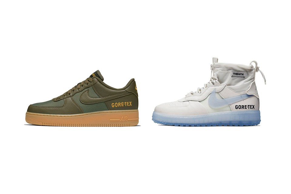 Nike Dresses Air Force 1 High, Low in Autumn-Ready GORE-TEX