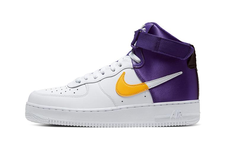 Nike Air Force 1 High NBA Lakers Clippers Release BQ4591-101 BQ4591-101