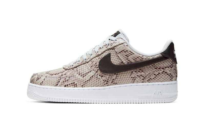 "Nike Air Force 1 low ""Snakeskin"" Release Info date drop price leather dark brown swoosh"