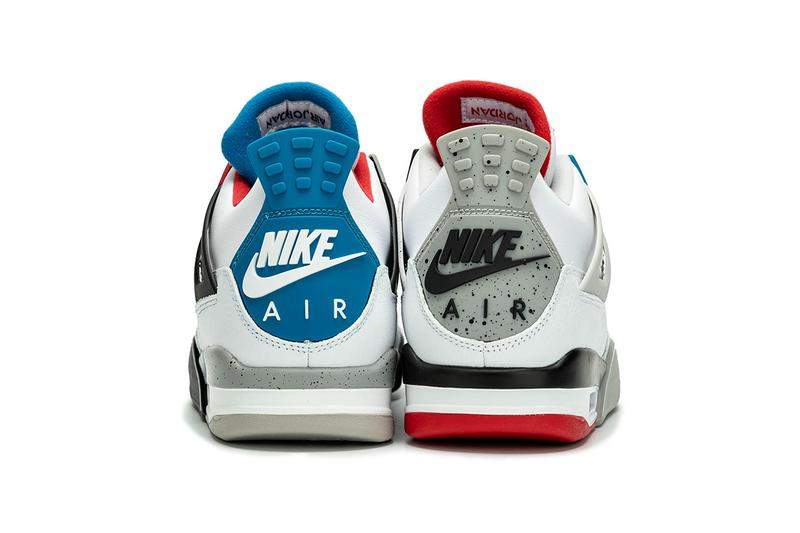 "nike Air Jordan 4 ""What The"" Color White Fire Red Tech Grey Military Blue Style Code CI1184-146 Release drop Date November 23 2019 Price 200 buy 30 anniversary"