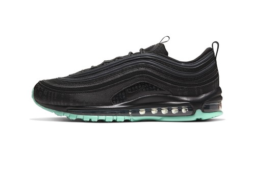"Nike's Air Max 97 ""Green Glow"" Channels 'The Matrix'"