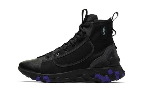 """Nike Drops """"Black/Court Purple"""" Colorway to the React Ianga"""