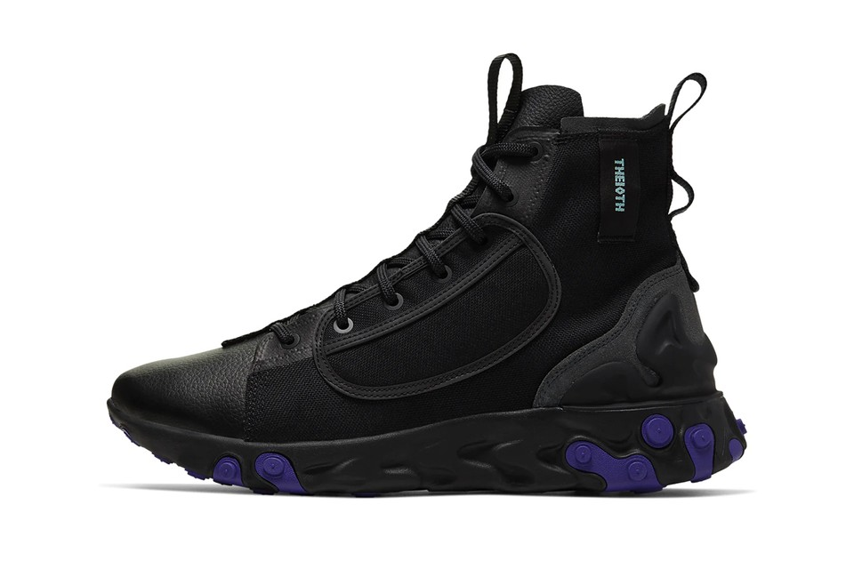 "Nike Drops ""Black/Court Purple"" Colorway to the React Ianga"