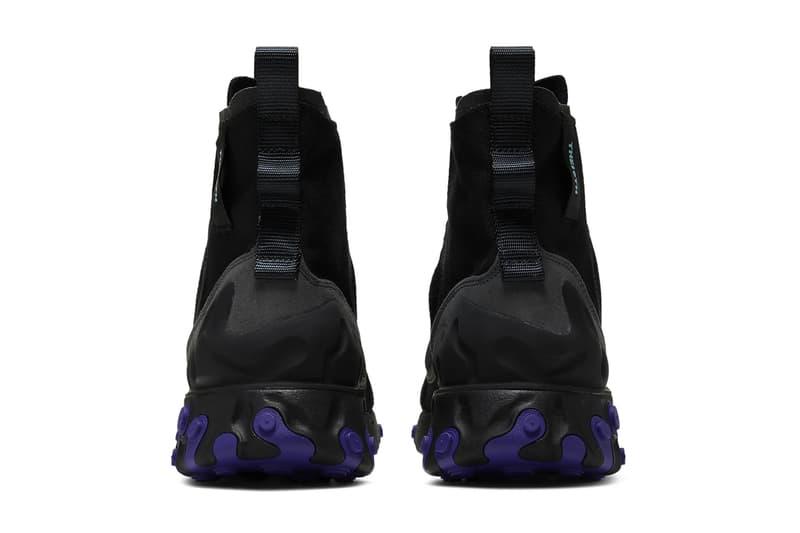 AV5555-002 Nike Black Court Purple React Ianga footwear sneakers boots