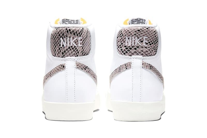 Nike Blazer Mid 77 Vintage White Reptile Release sneakers shoes retro CI1176-101