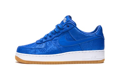 "CLOT Wraps Nike Air Force 1 in ""Game Royal"" Silk"