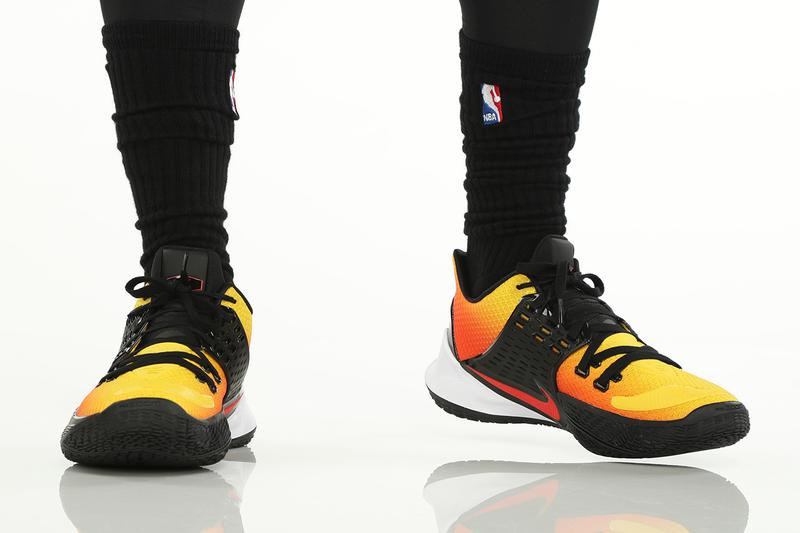 nike kyrie low 2 sunset release orange red colorway fall 2019 kyrie irving brooklyn nets media day inspired by air max plus