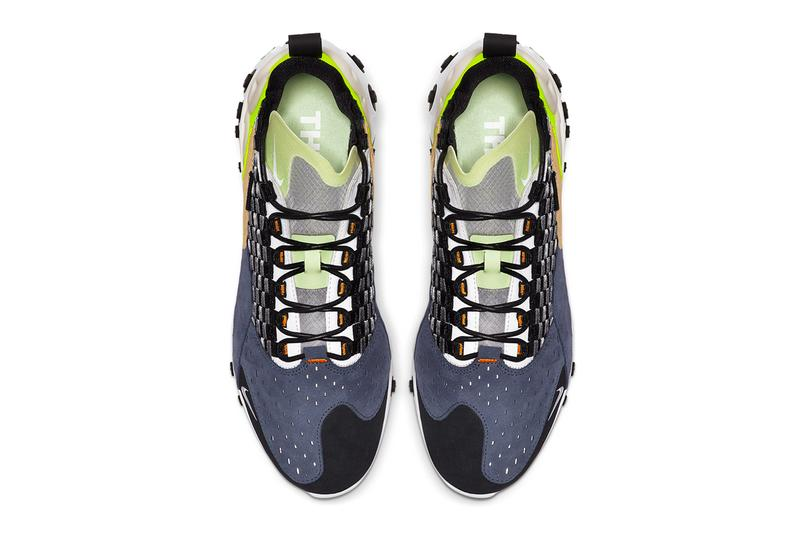 Nike React Sertu Black Volt White Release running shoes