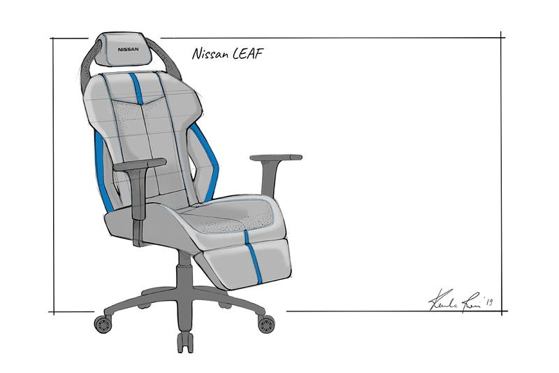 Nissan Esports Gaming Chair Concept Sketches GT-R NISMO Armada Leaf SUV Sportscar Electric