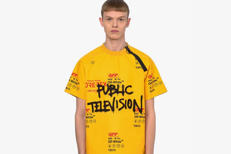 """Off-White™ Drops Graffiti-Inspired """"Public Television"""" GORE-TEX Shirt and Pants"""