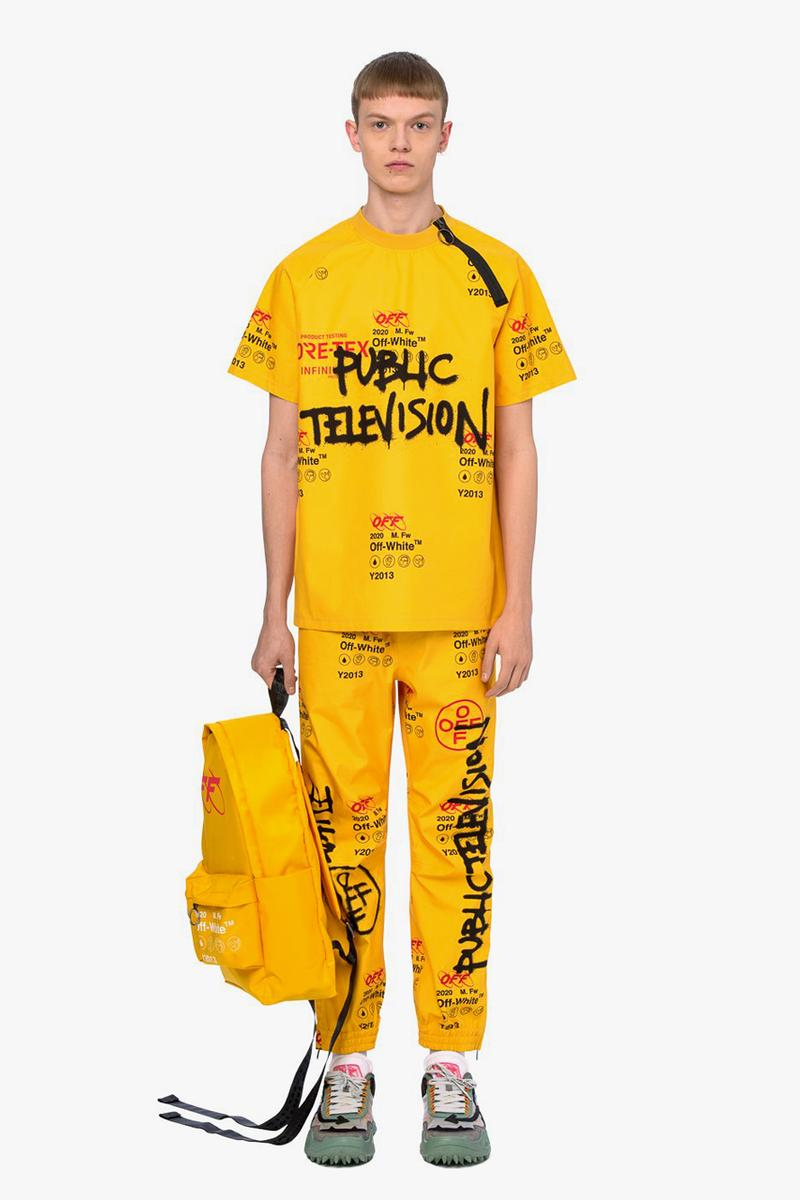 Off-White™ GORE-TEX Shirt Pants Yellow Public Television OFF Red Black Graffiti Fall/Winter 2019