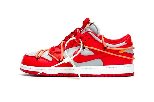 """The Best Look yet at the Off-White™ x Nike Dunk Low """"University Red"""""""