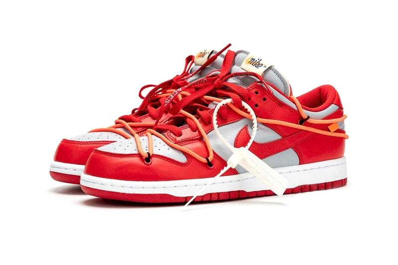 Off White Nike Dunk Low University Red Best Look Wolf Grey CT0856-600 Release Info Date Price Buy