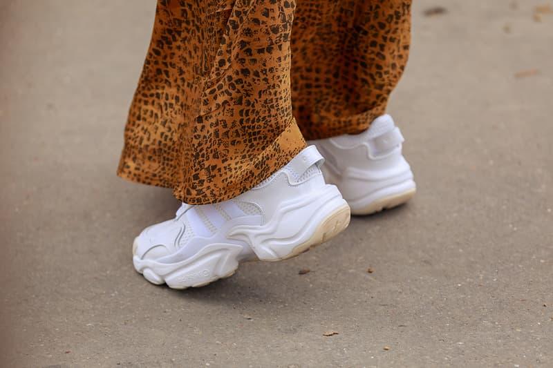 Paris Fashion Week 2019 SS20 Spring Summer 2020 Street Style Snaps Shots Collection Imagery Footwear Accessories Kiko Kostadinov x ASICS Louis Vuitton Off-White ™ Dior Prada adidas Chloe Balenciaga Triple S Loafers Acne Studios