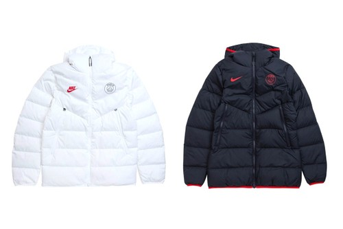 Paris Saint-Germain & Nike Come Together on a Set of Windrunner Puffer Jackets