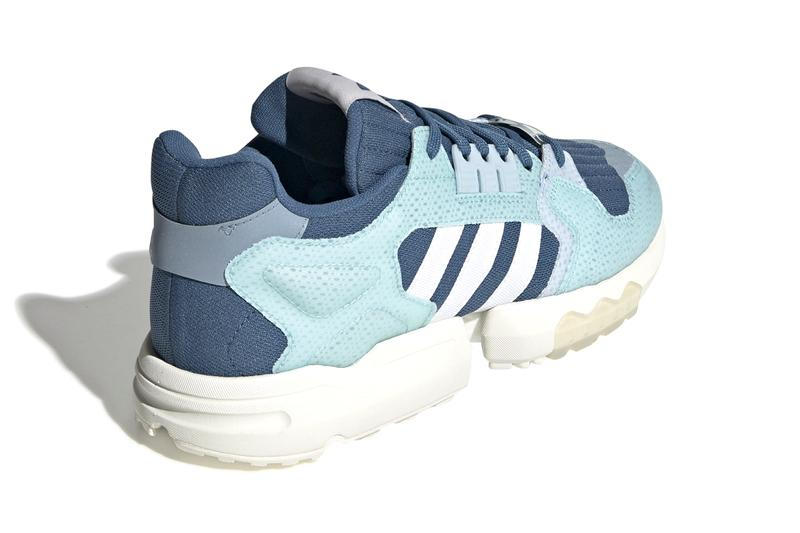 "Parley x adidas Originals ZX Torsion BOOST Sneaker Release Information Sustainability Recycled Waste Material Yarn ""Off-White/Hi-Res Aqua/Semi Solar Green"" ""Cloud White"" ""Linen Green"" Footwear Three Stripes"