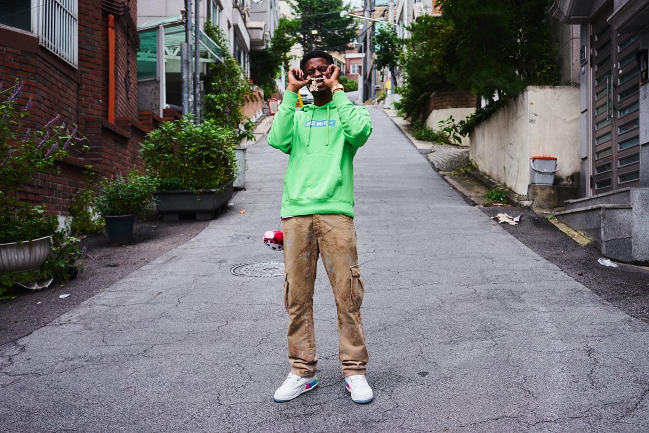 Pi'erre Bourne Seoul Korea Jordan 3 Retro Quai54 Friend and Family Editions Pierre Balmain Cargos Nike Chrome Hearts Rolling Stone Ring Gold Rolex Icey Boyz Pendant Chain