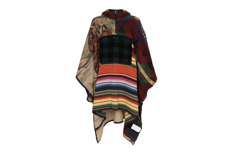 Polo Ralph Lauren Channels Americana With Patchwork Hooded Poncho