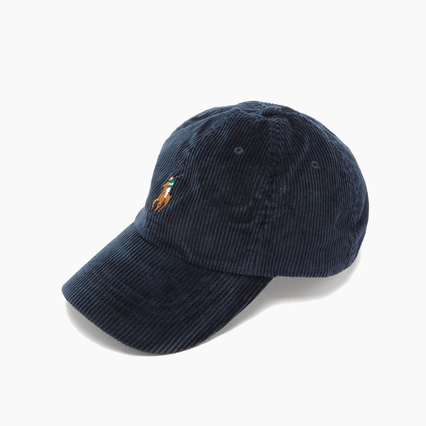 Polo Ralph Lauren Logo-embroidered Navy Corduroy Baseball Cap
