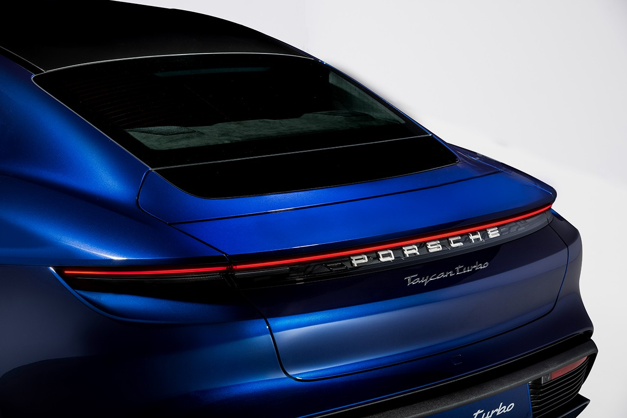 Porsche Electric Taycan Turbo S Sports Car Vehicle Sustainability Sedan