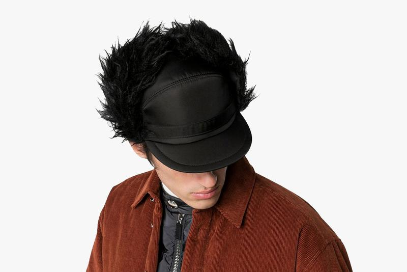 Prada Faux-Fur Nylon Trapper Hat Release Browns Fashion