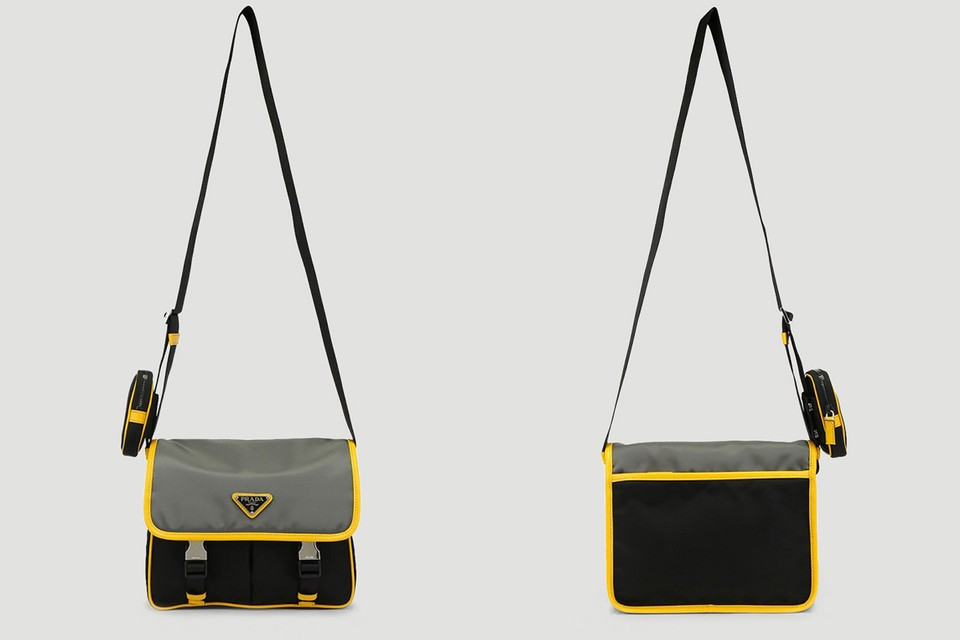 Prada Drops Two-Toned Shoulder Bag With Removable Pouch
