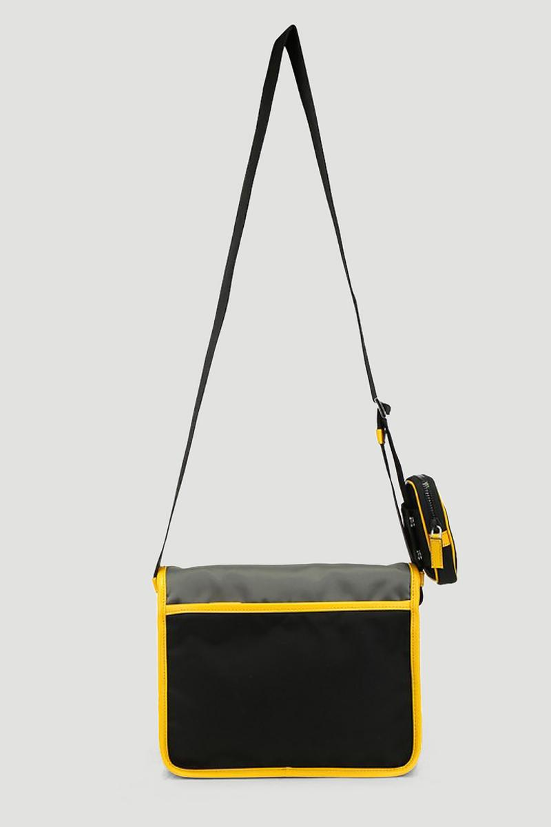 Prada Shoulder Bag in Black Yellow Removable Pouch