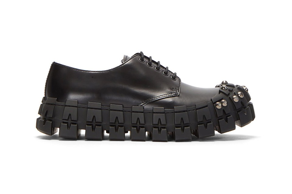 Prada's Latest Studded Shoes Are Inspired by Bulky Car Tires