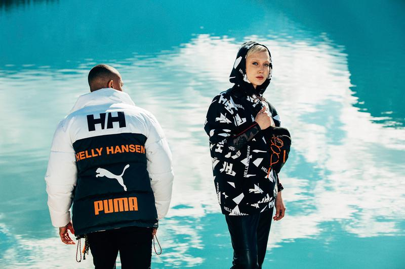 PUMA x Helly Hansen Clothing sneakers outerwear jackers Footwear Collection Trailfox MTS LQD Cell Omega Nitefox waistbag hoodie bubble puffer coat down sweatpants pants tee t shirt beanie