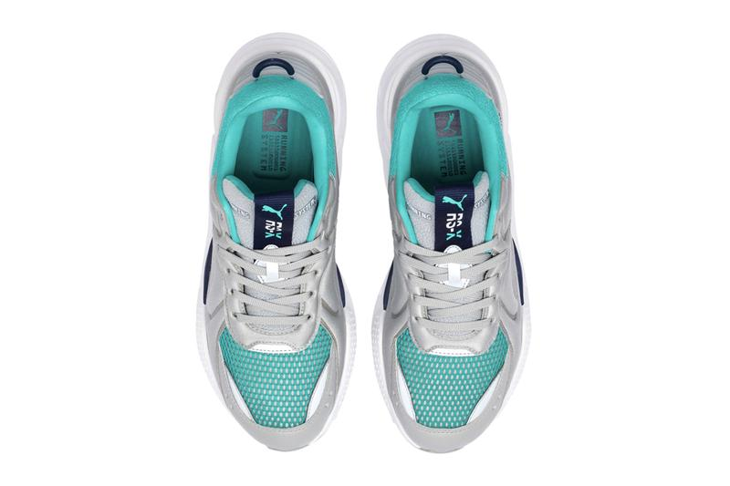 Puma RS X Softcase High Rise Blue Turquoise purple red white silver metallic running 80s sneaker footwear shoes 1980 vintage retro reflective
