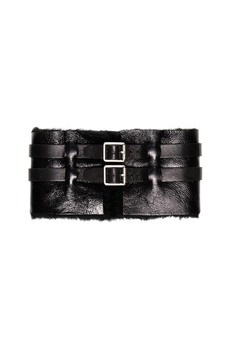 Raf Simons Black Shearling Buckle Scarf release where to buy price 2019