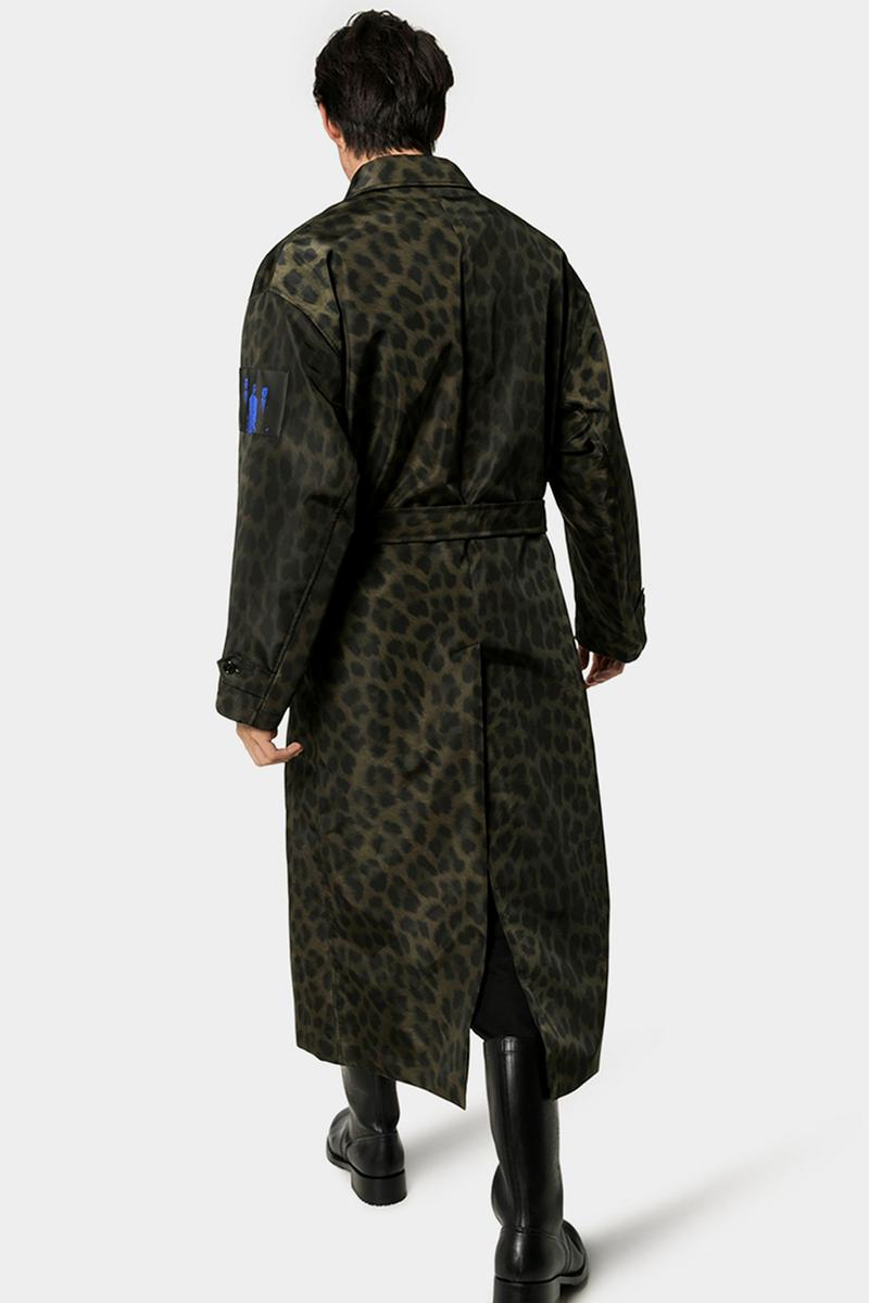 Raf Simons Fall Winter 2019 FW19 Runway Leopard Print Photographic Overcoat Release Information Cop Online Browns Menswear White Black Negative David Lynch 'Blue Velvet'