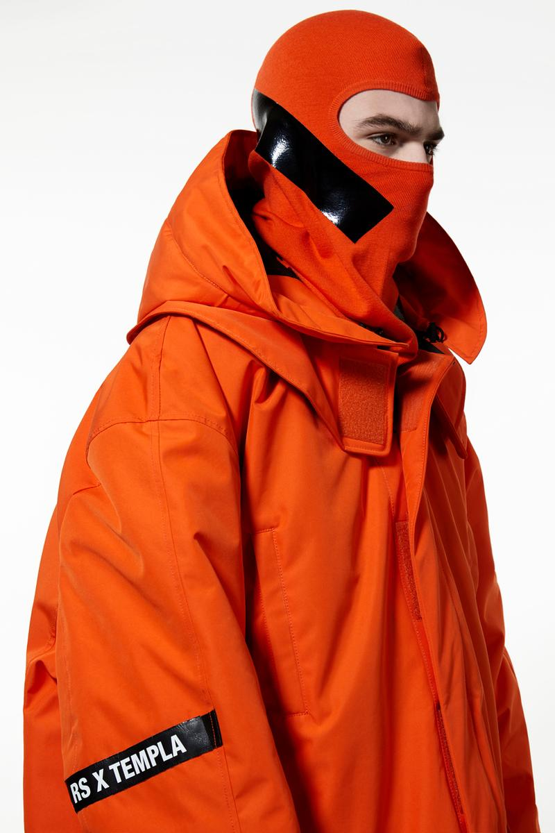 Templa Raf Simons Fall/Winter 2019 Collection Skiwear Outerwear Puffer Coats Tees Orange White Black Red