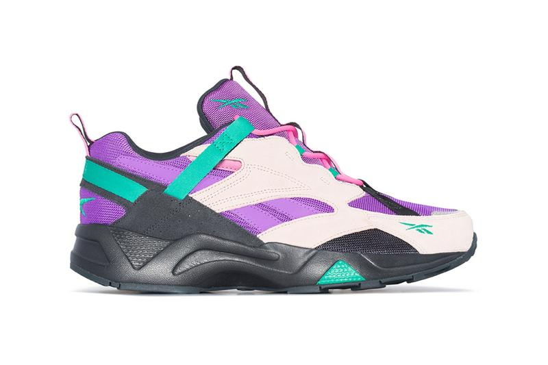 Reebok Multicolored Aztrek 96 Sneaker Pink Purple Teal Black
