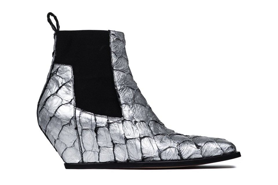 Rick Owens' Scaly Silver Boots Arrive Just in Time for the Fall Season