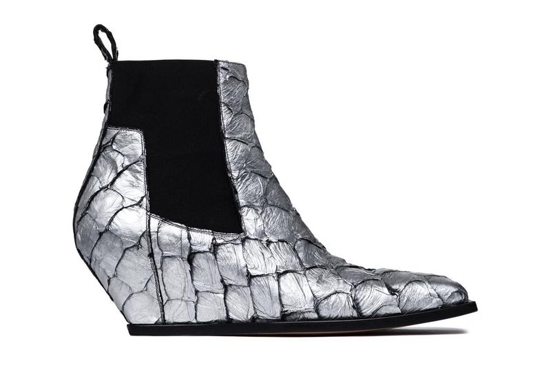 Rick Owens' Scaly Larry Model Silver Boots