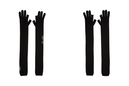 Rick Owens Drops Punk-Inspired Black Cashmere Fingerless Gloves