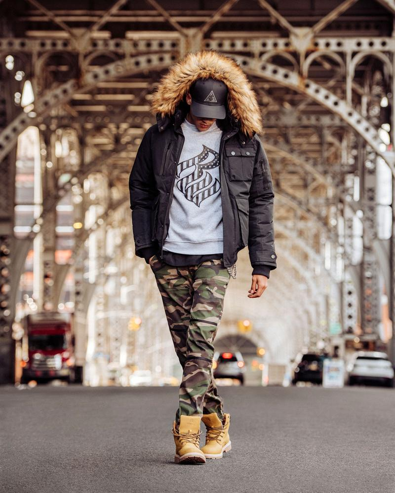 Rocawear 20 years of hip-hop inspired streetwear new collection dame dash jay-z timbs deadass camo pants sweatsuits nate carty anthony white new york city streets subway