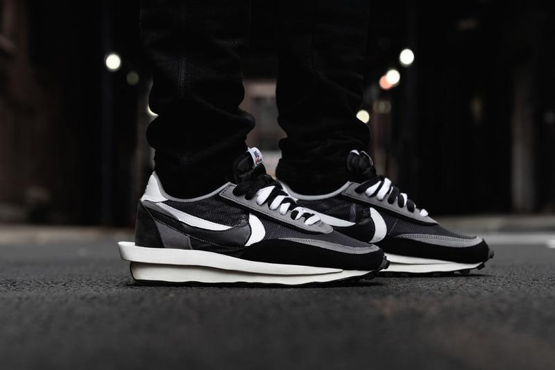 StockX Nike Sacai LD Waffle new colorways trip triplet release Green Purple White Grey Black Anthracite double swoosh elevated midsole co-branded
