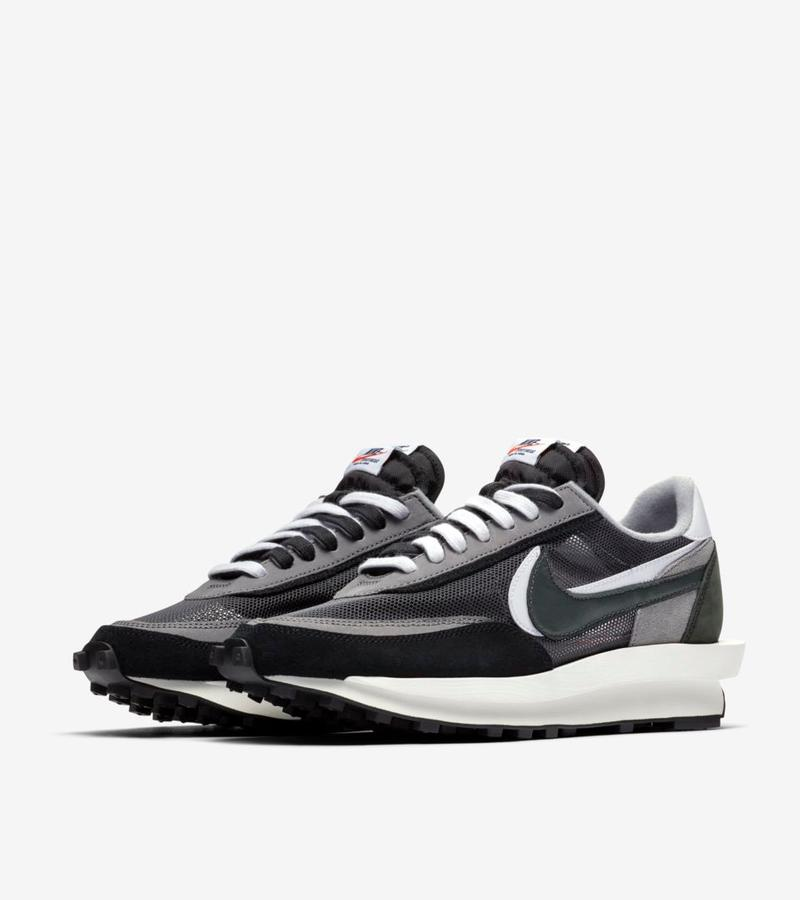 sacai x Nike LDWaffle Release where to buy price raffle resell black white gray 2019