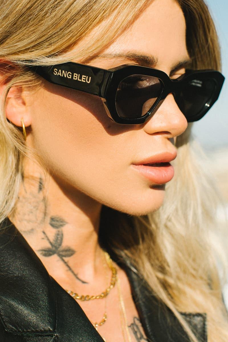 sang bleu akila vantage sunglasses shades collection release 2019 black smoke colorway la los angeles tattoo studio designer
