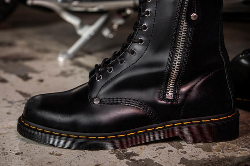 Schott NYC Dr. Martens 1460 1490 Boot Release boots footwear shoes leather star studs collaboration leather jacket biker
