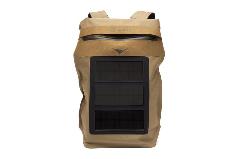 SEASE Mission Solar Powered Technical Canvas Backpack Bag Sustainable sunrise fabric sea ease giacomo loro piana franco british army charger devices
