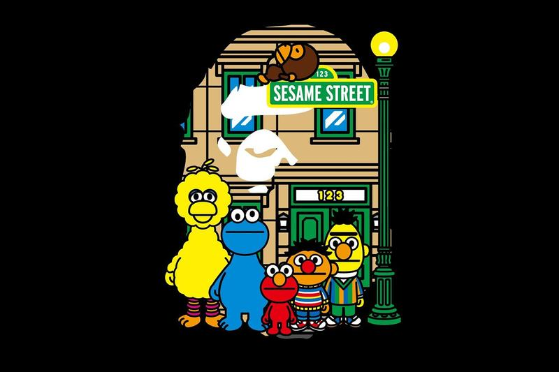 sesame street bape collaboration announcement streetwear fashion style clothing apparel