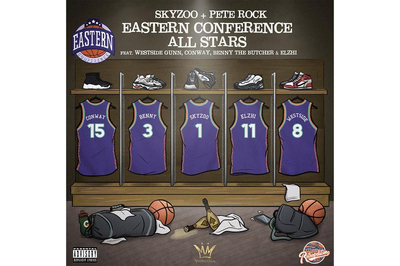 "Skyzoo & Pete Rock ""Eastern Conference All-Stars"" Single Stream Benny The Butcher Conway the machine Elzhi Westside Gunn boom bap hip-hop old school conscious rap listen now Soundcloud ""Retropolitan"""