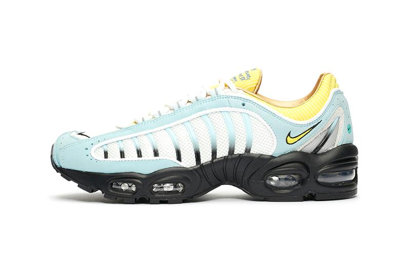Sneakersnstuff x Nike Air Max Tailwind IV Official Look 20th anniversary release information buy cop purchase ck0901-400 blue yellow white cobalt tint sail chrome buy cop purchase pre order