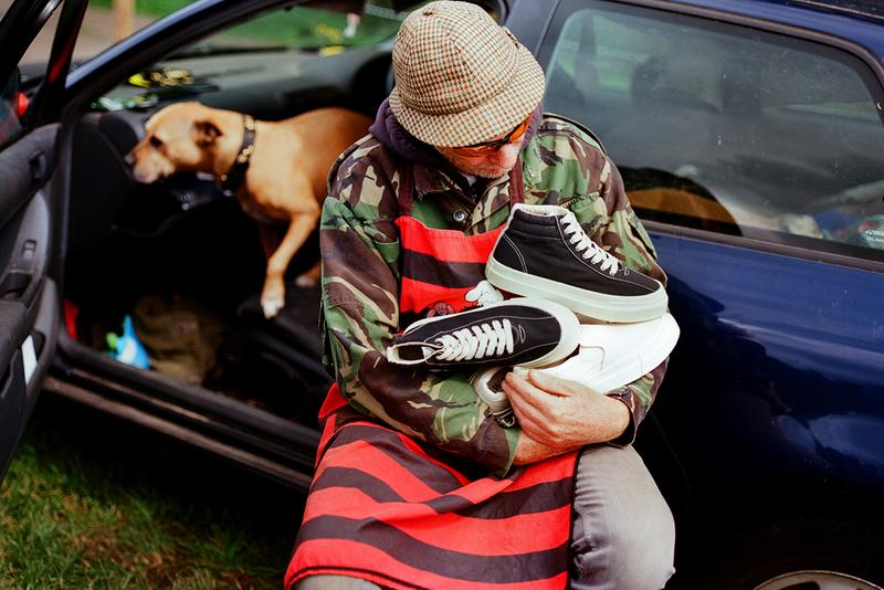 "stepney workers club swc fw19 fall winter 19 dellow varden lister release information slip on buy cop purchase order ""Porcelain Pets, Lawn Mowers & Teas."" campaign imagery goodhood stockists"