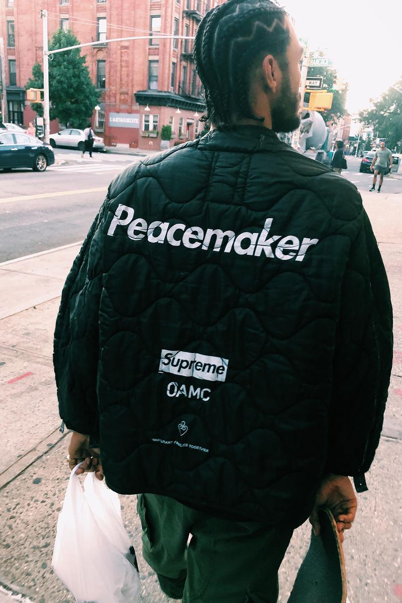 supreme oamc Immigration Families Together collaboration jacket release information charity peacemaker buy cop purchase pre order details luke meier